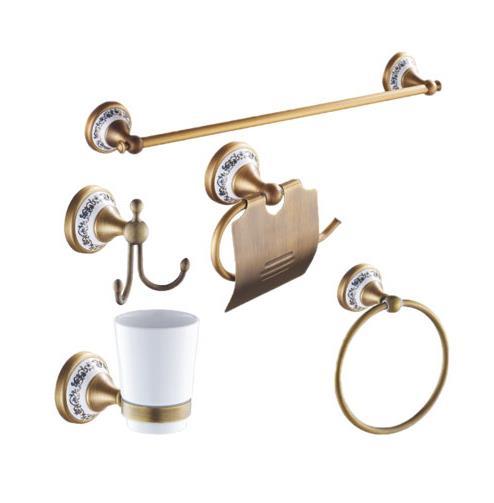 Antique Bathroom Hardware Set Pure Copper Bathroom Accessories Set Wall  Mounted Bathroom Hardware Sets Porcelainu0026Brass(