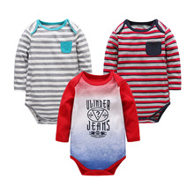 3Pcs / Romper Newborn Bodysuits Baby Girl Boy Cotton