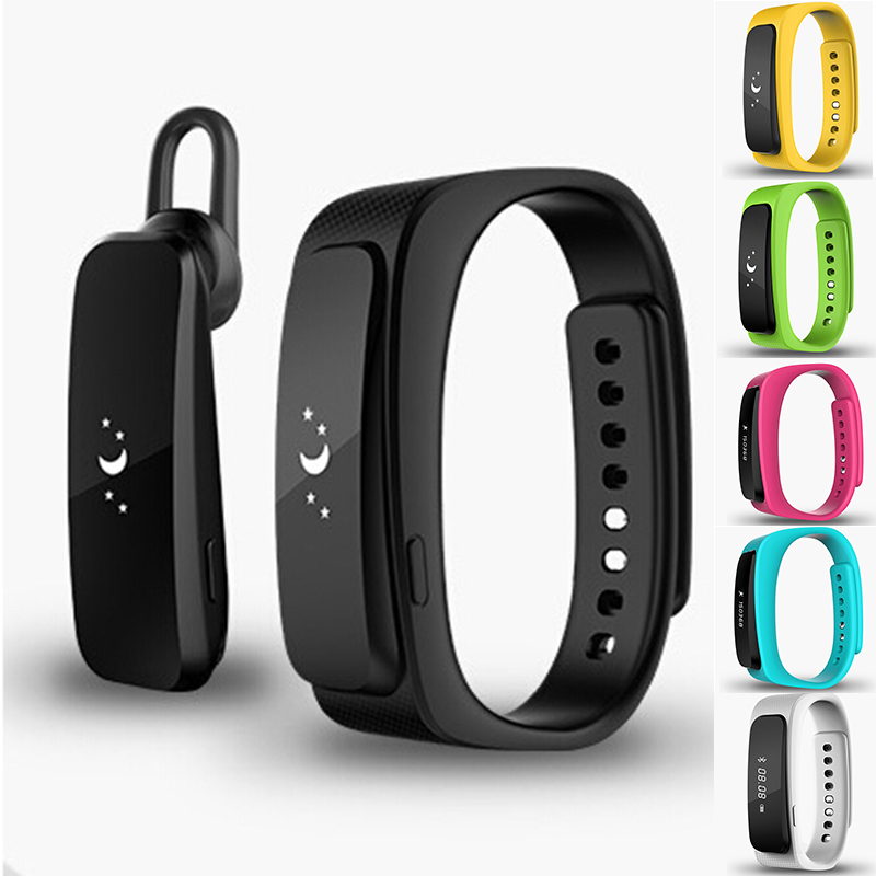 ФОТО 1pc New Smart watches band Bracelet Waterproof Smart Wrist band Pedometer Bluetooth With Earphone alarm For IOS Android gift  H4