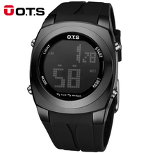 Brand OTS Original Creative Large Number Style Men Relojes Sport Waterproof AlarmLED Digital Fashion Watches Relogio Masculino