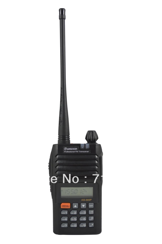 UHF 400-470MHz 128 CH 4W WOUXUN KG-669P Portable FM two way radioUHF 400-470MHz 128 CH 4W WOUXUN KG-669P Portable FM two way radio