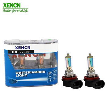 XENCN H8 12V 35W biała żarówka W kształcie diamentu kolorowe żarówki samochodowe halogenowe wymienić Upgrade lampa przeciwmgielna darmowa wysyłka 35 metrów nowy 2 psc tanie i dobre opinie 12 v