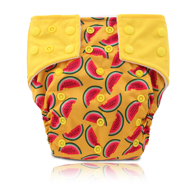 Sweet Watermelon Baby Night Aio Cloth Diapers Bamboo Diaper Jinobaby (1PCS AIO+1PCS INSERT)