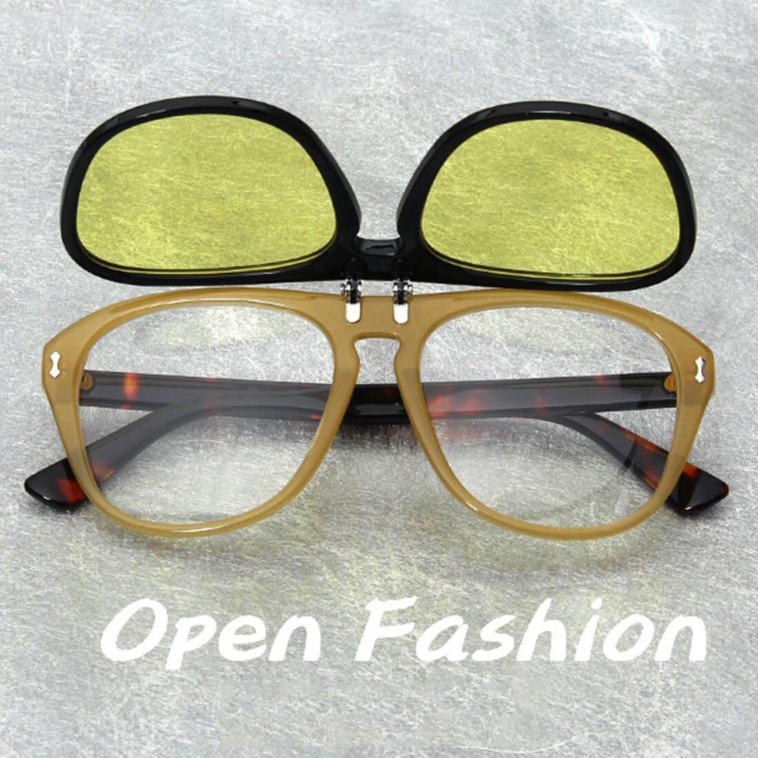 flip up sunglasses men fashion black unisex women sun glasses with yellow lenses summer 2019 UV400 lunette soleil femme in Women 39 s Sunglasses from Apparel Accessories