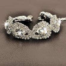 Роскошные свадебные женские ювелирные изделия 100% Стерлинговое