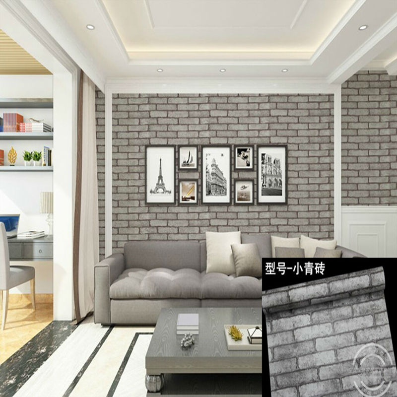 Deep Embossed  Europe Imitation Brick Style PVC Adhesive Waterproof Wall Paper Dining-room Background Wall Sticker Parlor Mural infiniti x pulley printer parts 20 teeth