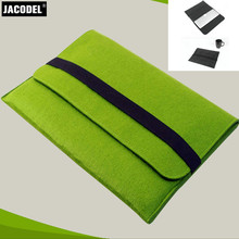 Jacodel Trend 11 inch Wool Felt Pocket book Laptop computer Sleeve Bag Case Carrying Deal with Bag for Macbook Air Professional Retina 11 Liner Sleeve