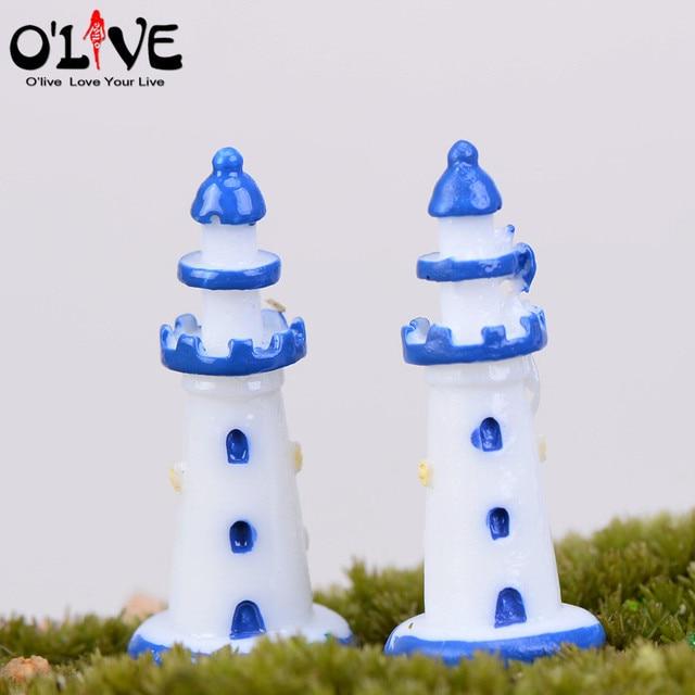 Mediterrane Accessoires mini hars vuurtoren mediterrane woondecoratie terrarium beeldjes