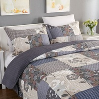 Американский качество лоскутное покрывало комплект 3 шт. постельные принадлежности хлопок Стёганое одеяло s кондиционер покрывала
