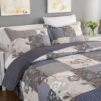 American Quality Patchwork Bedspread Set 3PCS bedding cotton Quilts Aircondition Bed Covers Super King Size Quilt Set Coverlet - DISCOUNT ITEM  30% OFF All Category