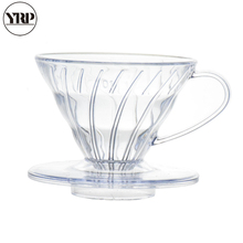 YRP Hot Selling 2019 Products V60 Heat-resistant Resin Coffee Dripper Paper Cone Filters  Barista Pour Over Brewing Cup