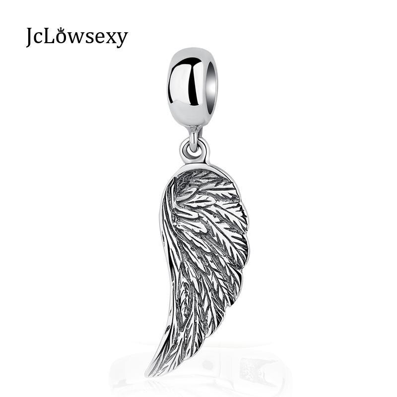 50PCs Metal Charm Pendants Angel Wings Jewelry DIY Silver Tone 29mmx16mm