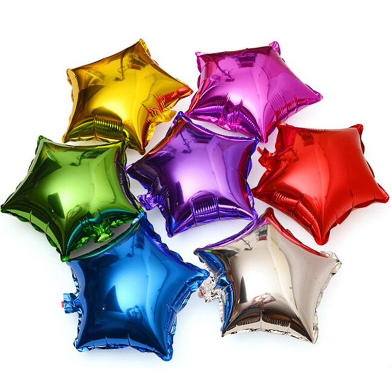 5pcs Balloons Happy Birthday Party Balls Inflatable Balloons Foil For Modeling Star Shape balloon Party Decoration Wedding WOct5