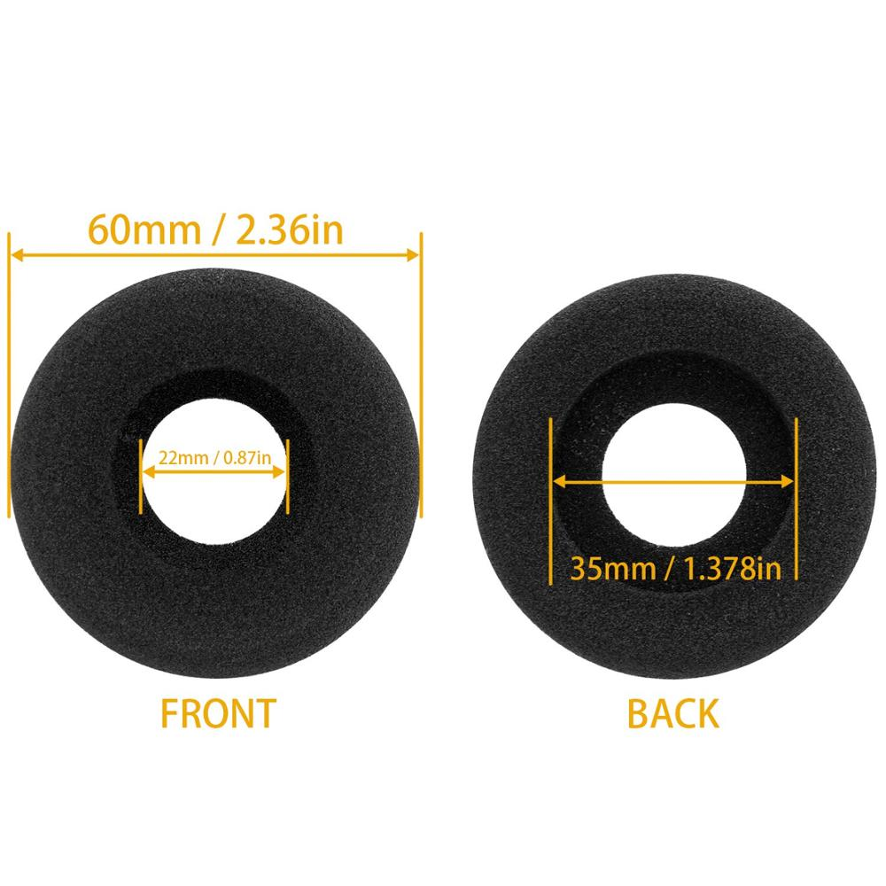 Free Shipping 50pcs 25 pair Replacement Super soft leather foam Ear Cushion microphone cover for Plantroinics