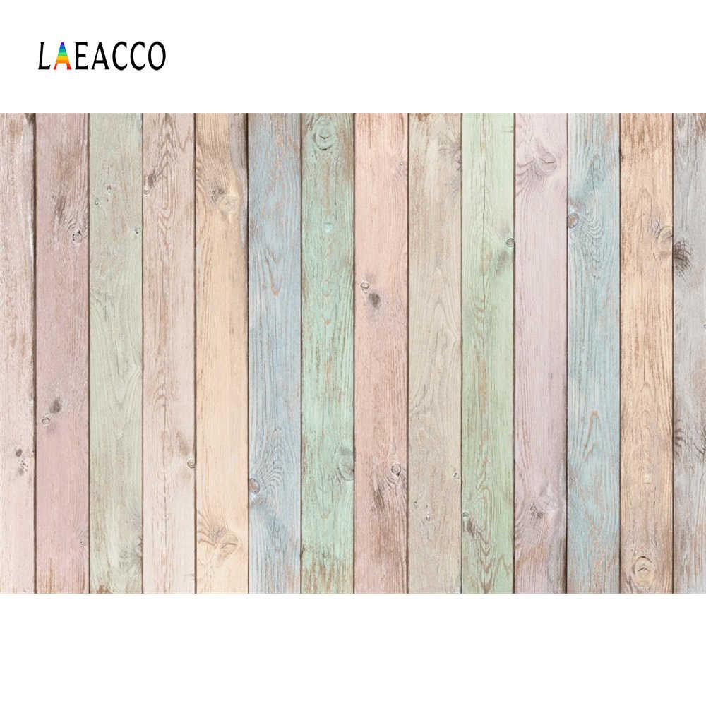 Laeacco Vinyl Hout Achtergronden Voor Fotografie Kleurrijke Planken Board Huisdier Baby Love Portret Voor professionele Fotostudio