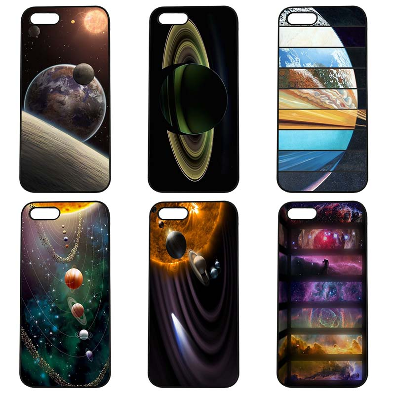 Outer Space Solar System Mobile Phone Case Hard Cover Fitted for iphone 8 7 6 6S Plus X 5S 5C 5 SE 4 4S iPod Touch 4 5 6 Shell