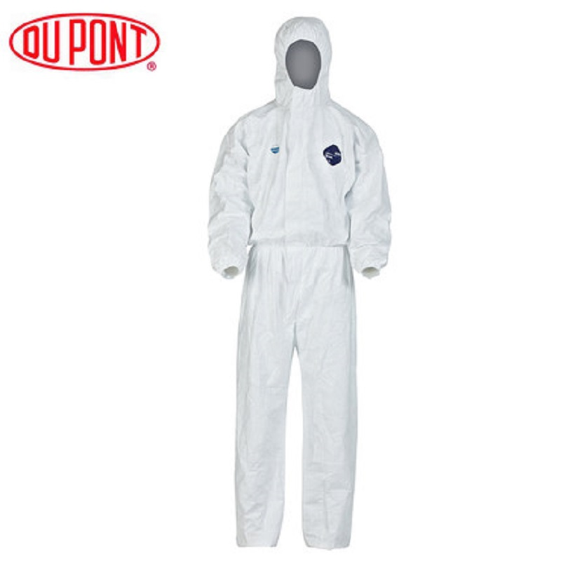 NO STOCK~DO NOT PAY~Thanks~1422A Dupont Tyvek Protective Coverall Disposable Elastic Cuffs Attached Hood Anti-static