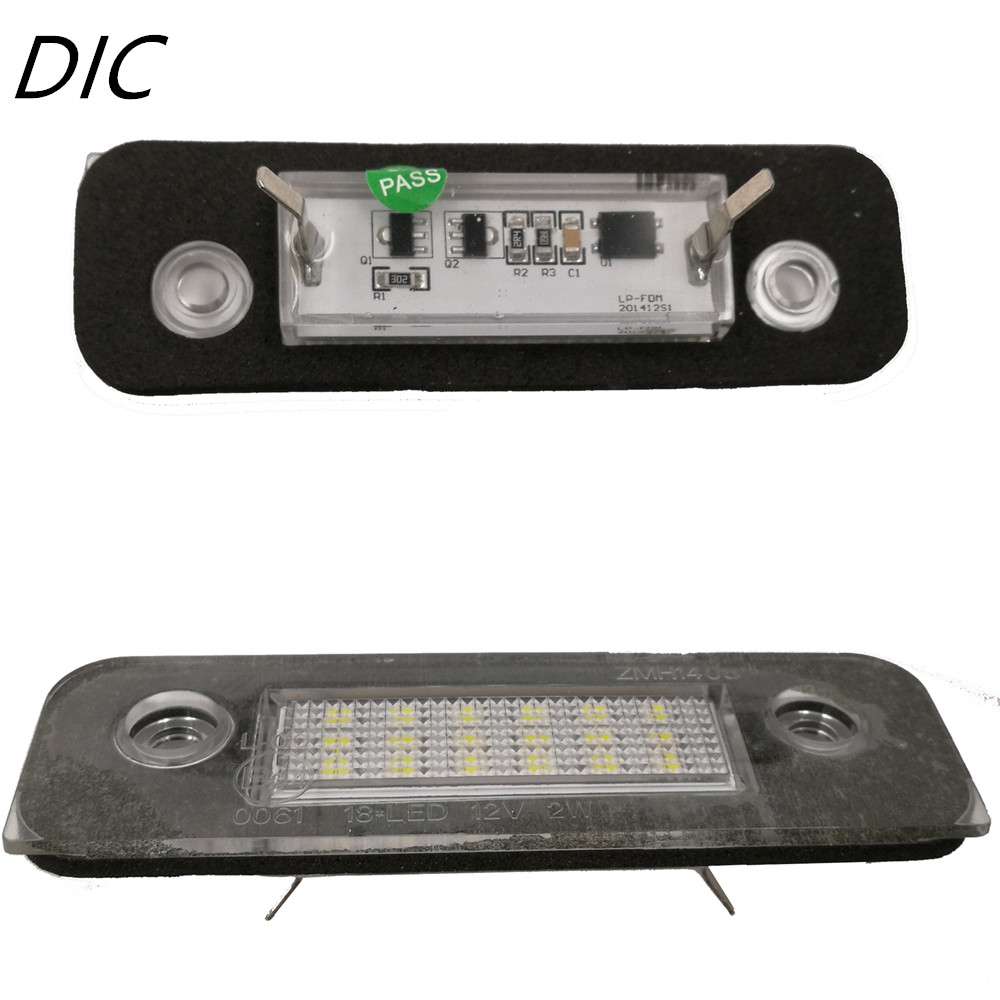 DIC 2pcs Car-styling LED Lamp Side Marker Lights for Ford Mondeo MK2 96-00 Fusion / Fiesta License Plate Lights for Ford 12V купить