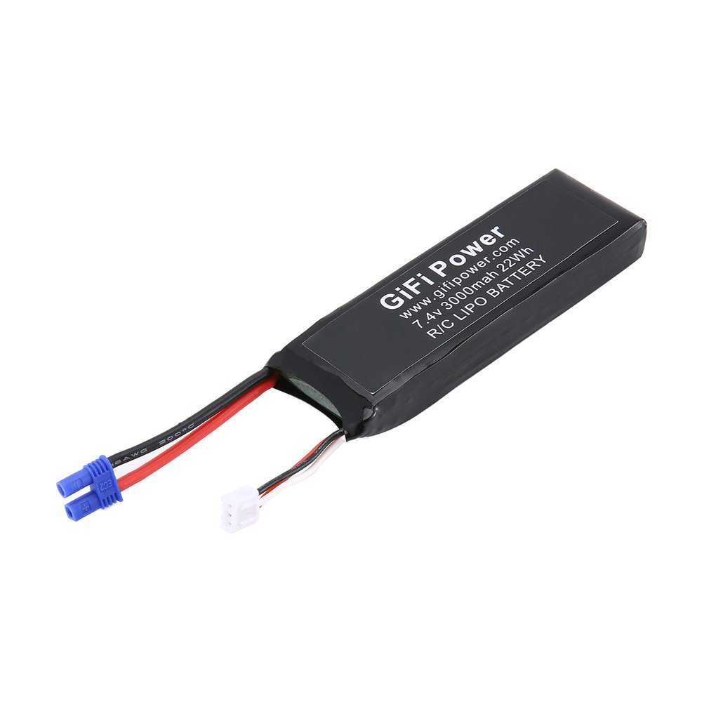 Large Capacity <font><b>Battery</b></font> <font><b>7.4V</b></font> <font><b>3000mAh</b></font> Upgraded Replacement <font><b>Lipo</b></font> <font><b>Battery</b></font> Lightweight Drone <font><b>Battery</b></font> For Hubsan H501S Drone image