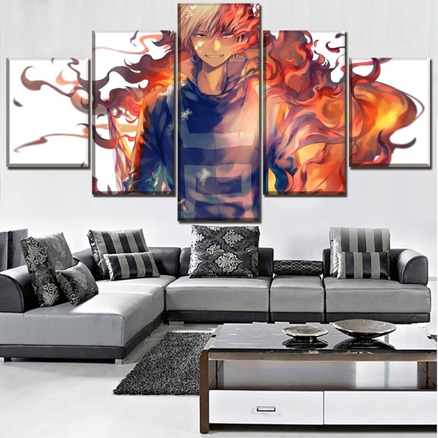 5 Panel Boku no Hero My Hero Academia Poster Canvas