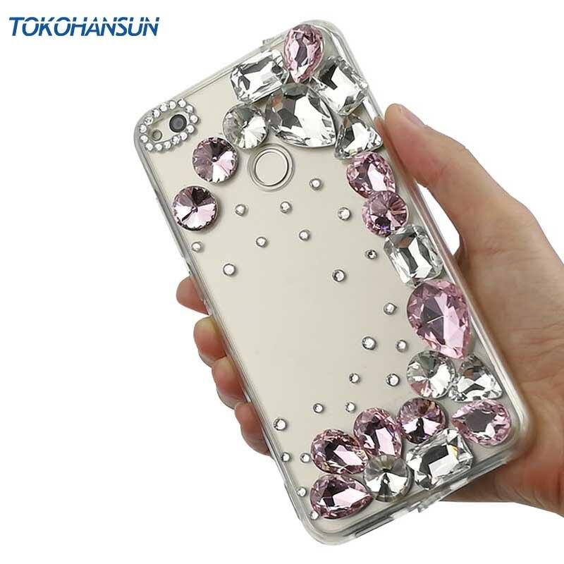 Tokohansun De Luxe Cas pour Huawei Compagnon 10 Pro V10 P20 Lite Plus P10 Cas Couverture Strass Diamant Cristal Téléphone Accessoires