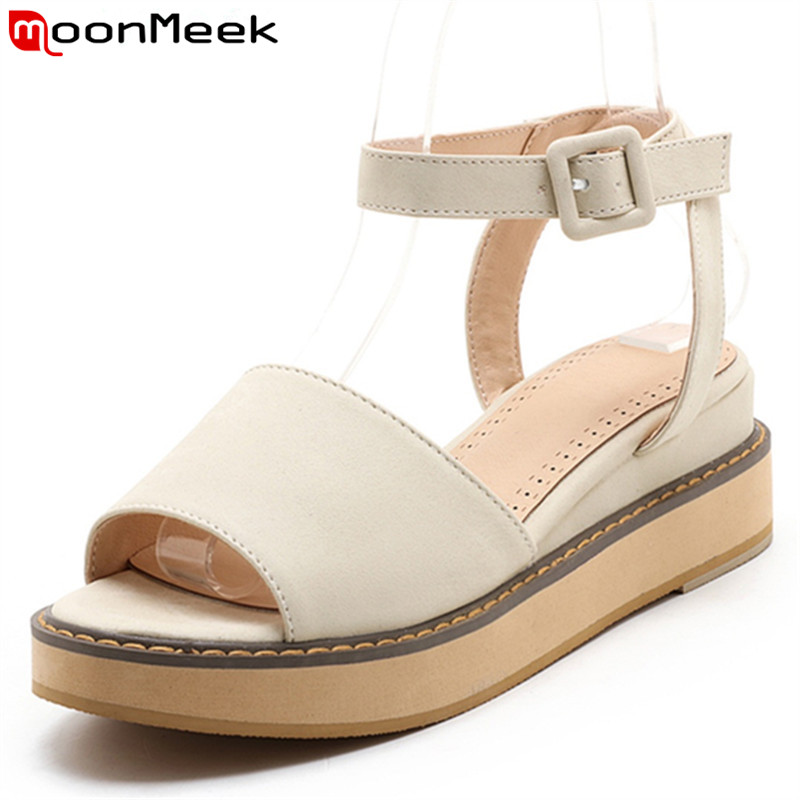 MoonMeek 2017 new arrive women high heels sandals fashion sweet buckle summer shoes simple  comfortable big size 34-46 electric shoe dryer ozone dryer for shoes uv sterilizer shoe deodorizer warmers dehumidifier heater foot protector