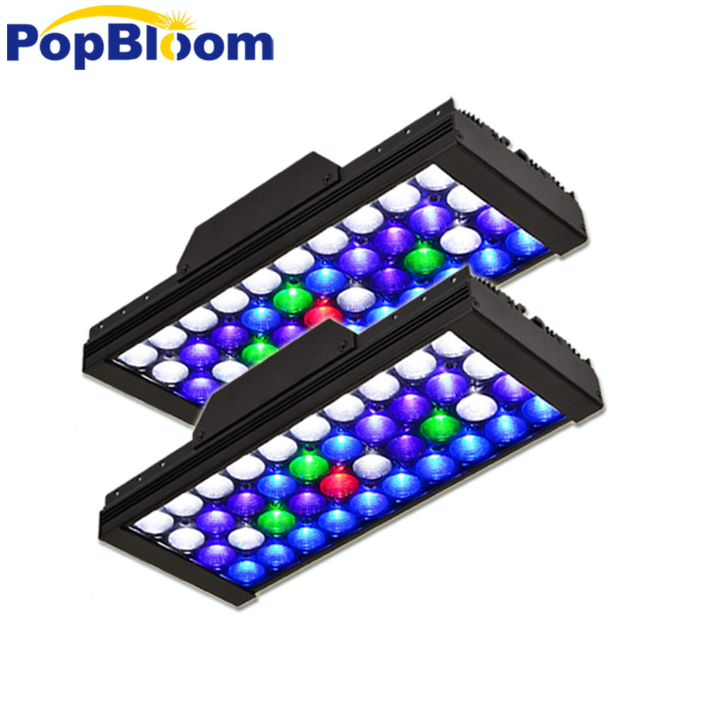 PopBloom led marine aquarium fish tank lampada di Barriera HA CONDOTTO LA luce Programmabile corallo SPS LPS acquario mare acquario di barriera MJ3BP2