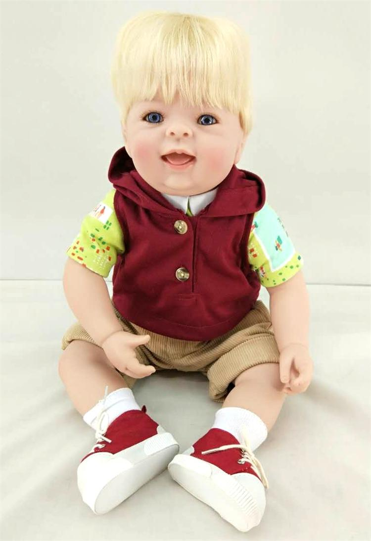 50cm Silicone Reborn Boy Baby Doll Toys For Kid 20 inch Vinyl Lovely Toddler Doll Girl Brinquedos Child Birthday Gifts