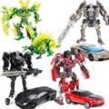 Metal Alloy Transformation Robot Car Toys Bumble Bee Optimus Prime Boys Xmas Gift