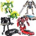 Metal aleación abejorro optimus prime transformación robot car toys niños regalo de navidad