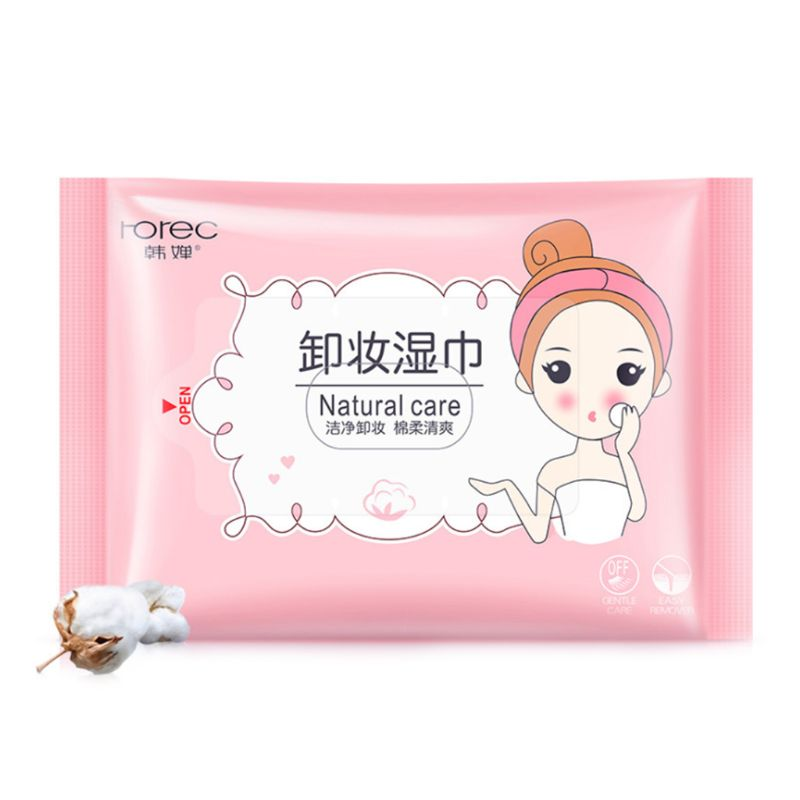 25Pcs/Pack Makeup Remover Wet Wipes Tissue Draw-Out Face Eye Deep Cleansing Cotton Pads Moisturizing Towels Cosmetic Tool Skin