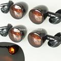 Motorcycle Turn light Skull Black Turn Signal Indicators Blinker For Harley Sportster Suzuki Custom Amber Light