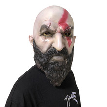 Game God Of War 4 Helmet Mask Cosplay Kratos Horror Scary Latex Masks Halloween Party Props(China)