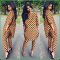 Африканские Женская Одежда Продвижение Горячей Продажи Африканская Одежда Новое Прибытие Спандекс 2016 Дамской Одежды Костюм