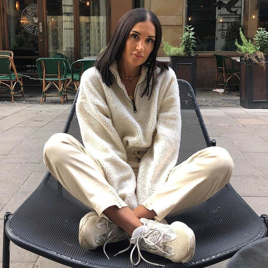 Chemise holographique Poleron Mujer Con Capucha Moleton Feminina Mode Femme 2019 Ariana Grande sweat holographique 5Zc0344F