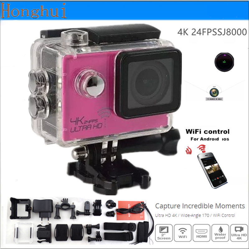 ФОТО Action camera WiFi Ultra HD 4K 24fps Sport  Camera 2.0-inch screen Waterproof 30M go pro Style 16MP 170 Degree Extreme sport cam