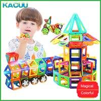 KACUU 71 149PCS DIY Constructor Big Size Magnetic Building Blocks Designer Square Triangle Enlighten Bricks Toys For Children