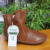 Whensinger-Agosto novo arrvial mulheres couro genuíno moda botas sapatos da moda zip projeto tamanho 35-42 para o outono inverno 5062