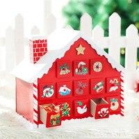 Haute qualité Bonbons tiroir neige maison château Décoration Enfant De Noël GiftCandy accepté boîte ornements cadeau pour enfants jouet