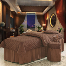 1 set High-grade Beauty salon thick 7 color beauty bed bedspread custom cotton bedspread fumigation massage Bed Sheet 70*190cm
