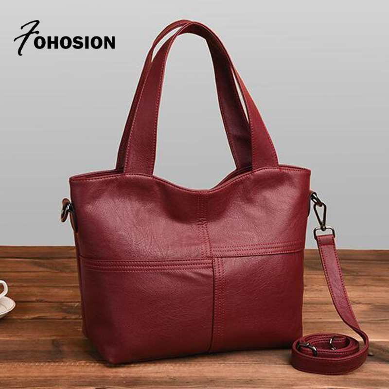 2018 New Designer Women Leather Handbags red Casual Shoulder Bags soft Ladies Cross Body Bags Large Capacity Ladies Shopping Bag lovetoy anal sex vibrating masturbation vibrator cup soft silicone artificial male masturbator sex toy for men