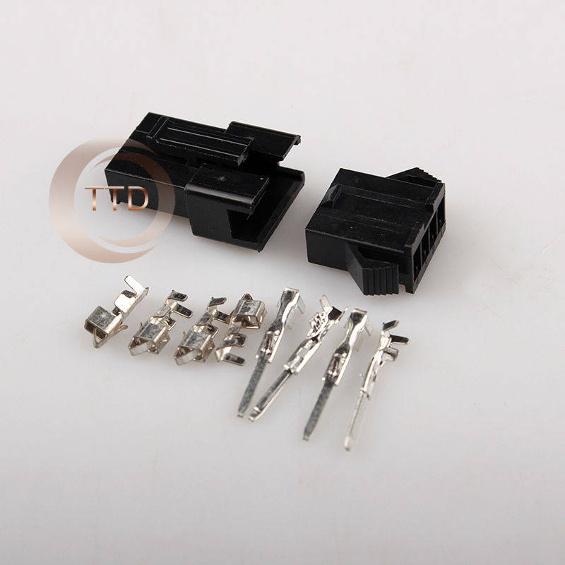 10 Sets Jst 2.54mm Sm 4 Pin 4 Way Multipole Connector Plug With Ternimal