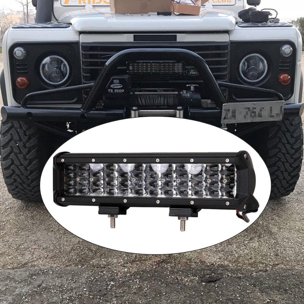 12 дюймов внедорожный светодиодный световой бар 12 в 24 В точечный прожектор SUV 4X4 Yacht Boat ATV AWD для трактора, прицепа, грузовика