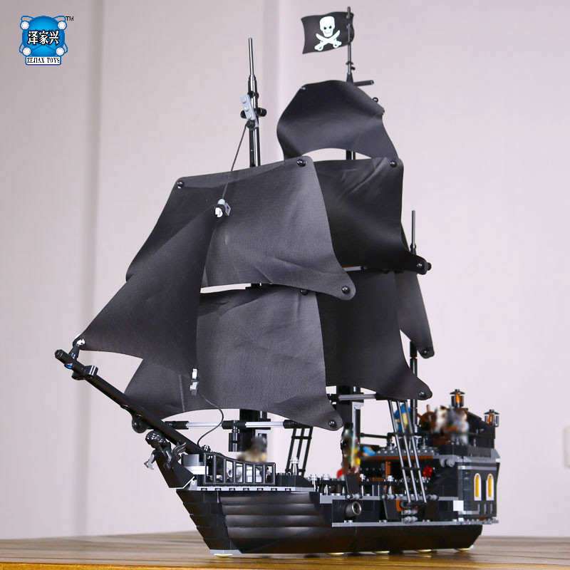 LEPINE Pirates of The Caribbean The Black Pearl Building Blocks Educational Funny Set Toy for Children Bricks Figures Gifts
