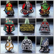 Nicediy Robot Star Wars Patch Embroidery Iron On Patches For Clothes Cartoon Hero Stripes Kids Applique Badge Washable