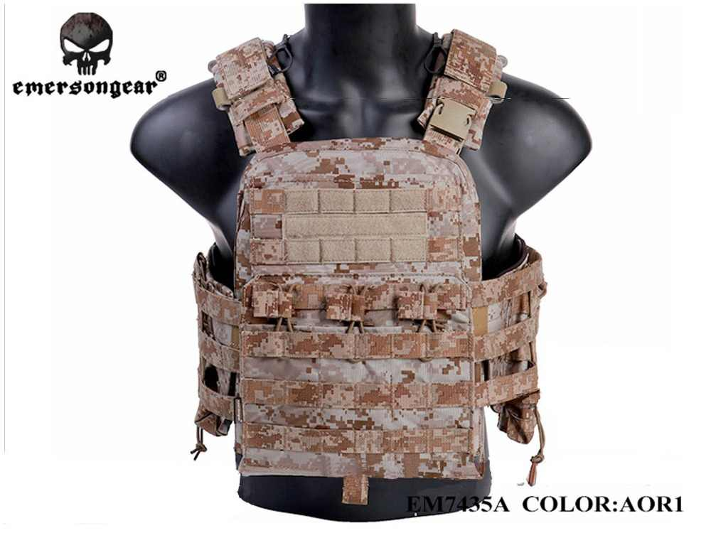 Hunting Tactical Vest Airsoft Combat EMERSON CP Style Cherry Plate Carrier Tactical VEST NCPC Genuine EM7435 MultiCam Black