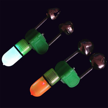 2 Pcs Luminous Sea Fishing Feeder Fishing Bell Twin Rod Tip Fish Bell Alarm Fishing Tackle 50mm
