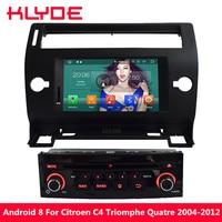 KLYDE Octa Core 4 ГБ Android 8 Автомобильный мультимедийный dvd плеер для Citroen C4 Quatre Триумф 2004 2005 2006 2007 2008 2009 2010 2011
