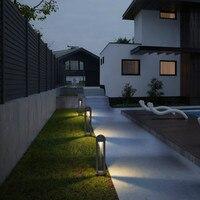 Современный дизайн светодио дный уличный фонарь Водонепроницаемый Сад Открытый освещения лестницы Алюминиевый садовый фонарь post осветите