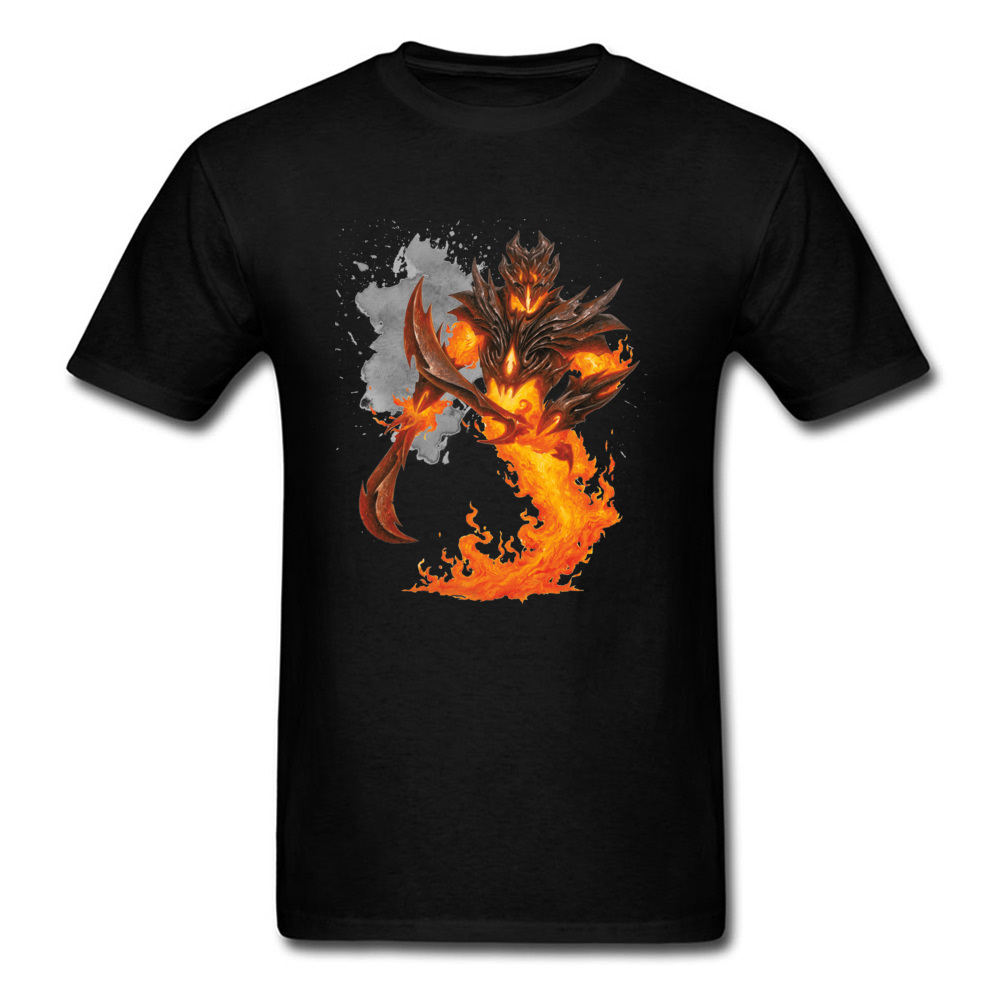 Awesome Design Men T-shirt Fire Ancient Cool Warrior Print Black Tee Shirt Funky Personalized Tops Plus Size